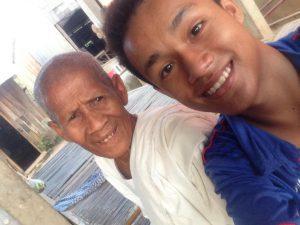 Last selfie I took with my grandma.